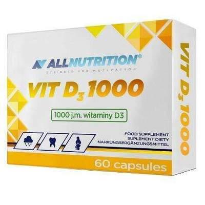 VIT D3 1000  60 kapslí All Nutrition